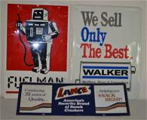 Collection of Contemporary Metal Signs