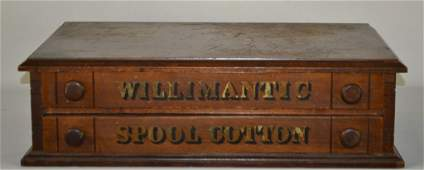 Willimantic Spool Cotton 2 Drawer Spool Cabinet