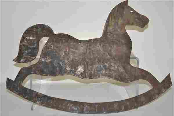 Tin Folk Art Rocking Horse
