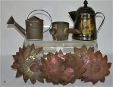 Grouping of Decorative Tin Items