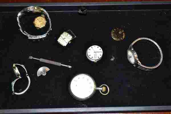 Grouping of Men's Wrist & Pocket Watch Faces