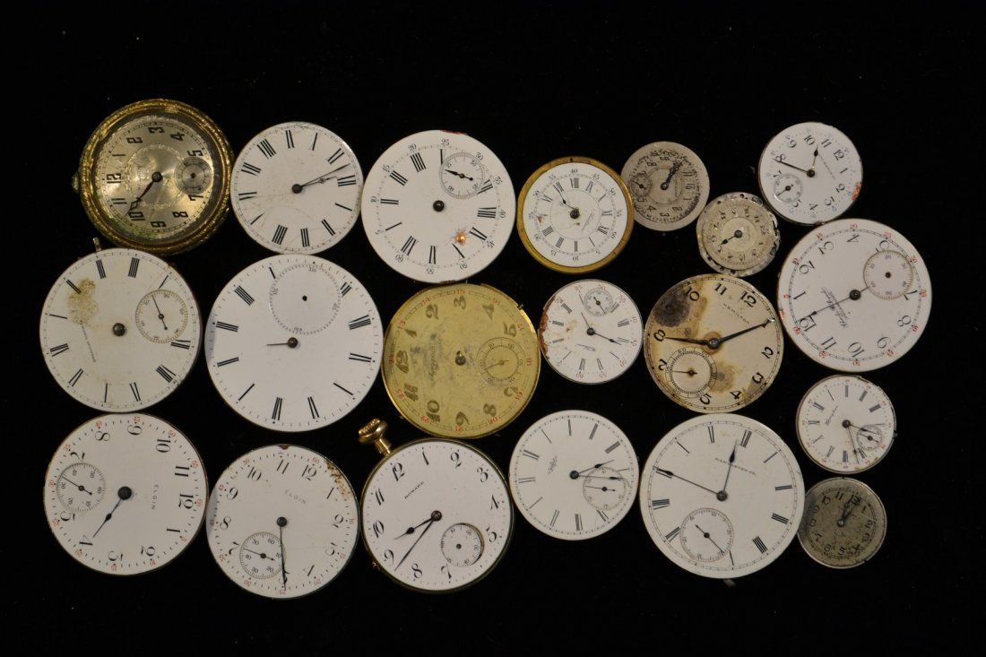 Collection of Pocket Watch Movements (20)