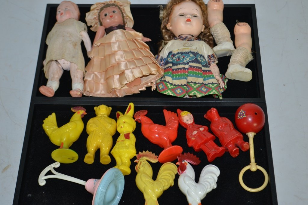 Collection of Vintage Dolls & Early Plastic Toys