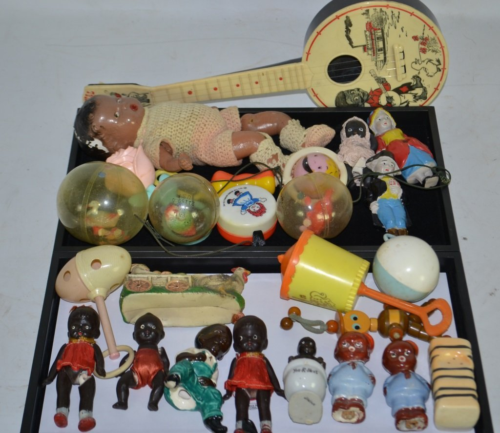 Collection of Early Black Americana & Baby Toys