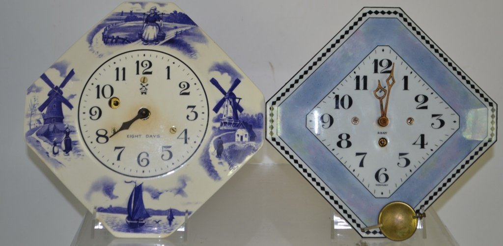 Two Vintage German Wall Clocks