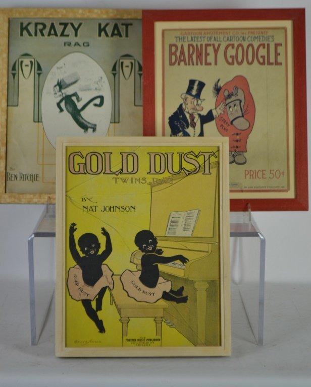 Three Vintage Sheet Music