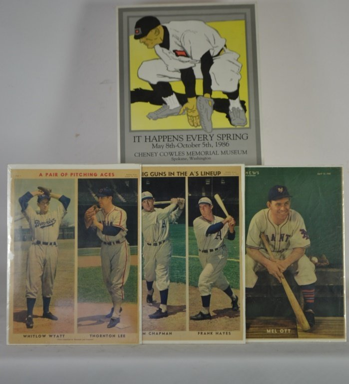 1940's Baseball Sunday News Player Prints