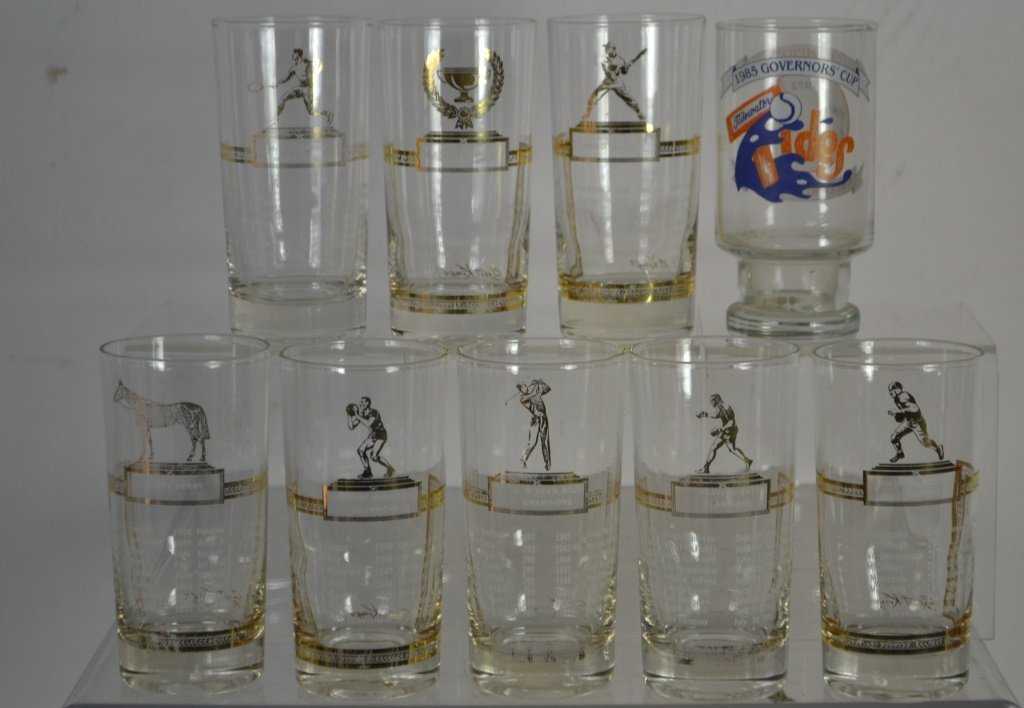 Collection Of Sport King's Collectible Glasses