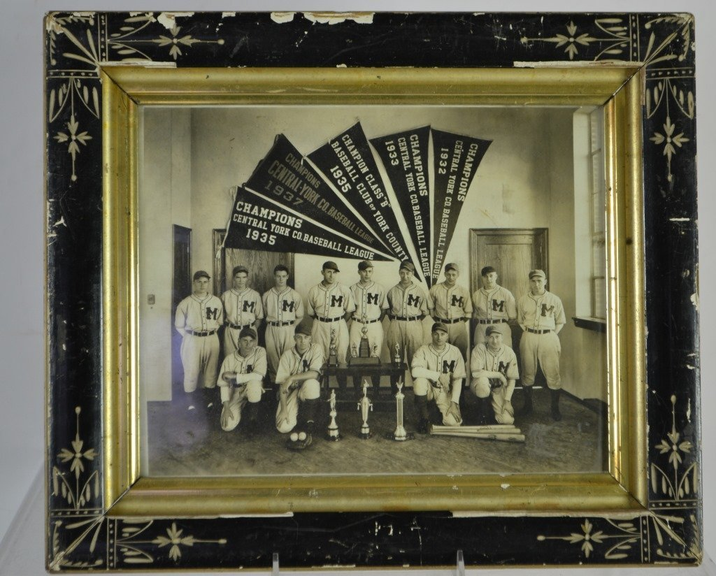 1937 Central York Co. Baseball League Team Photo