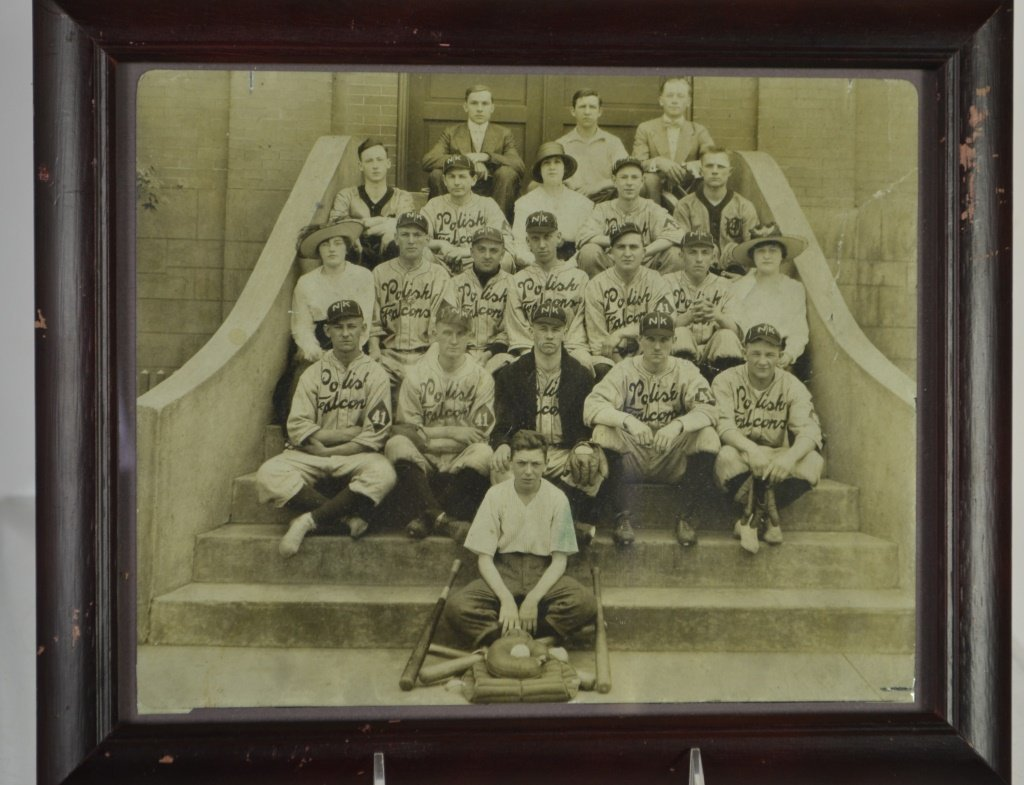 1920's Era Polish Falcons Baseball club Team Photo