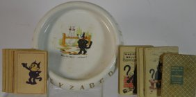 Early Felix Ashtray W/ Habana Felix Premium Cards