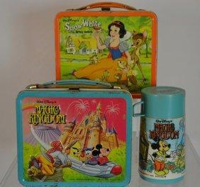 Two Walt Disney Lunch Boxes