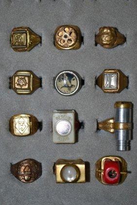 Collection Of Twelve Vintage Premium Rings