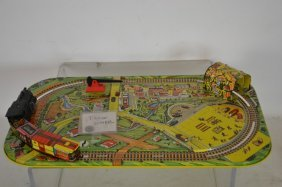 'mar Toys' Tin-litho Key-whined Train Set