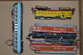 Ho Scale Burlington Rail Road Dual Diesel Engines