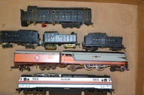 Grouping Of Steam Engine, Diesel, & Amtrak Trains