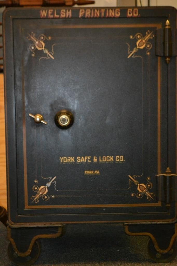 19th Century York Safe and Lock Co Painted Safe