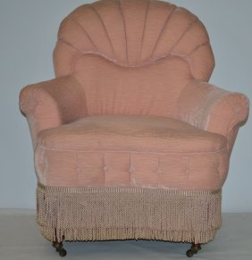 19th Century Upholstered Parlor Chair