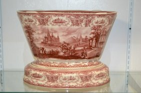 Contemporary English Ironstone, Red Transfer
