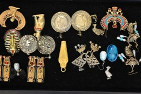 Tray Of Egyptian Costume Jewelry