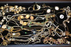 Grouping Of Costume Necklaces, Bracelets, & Pins