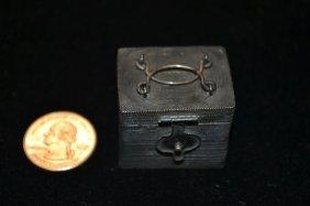 Miniature Sterling Silver Filigree Tea Caddy