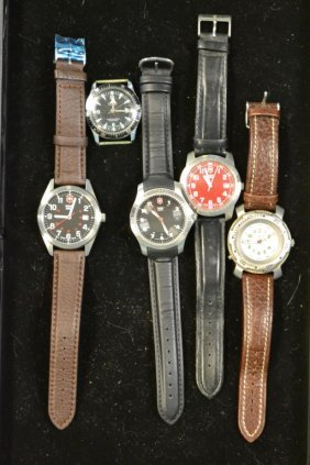 5 Swiss Men's Wrist Watches