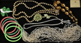 Grouping Of Vintage Costume Jewelry