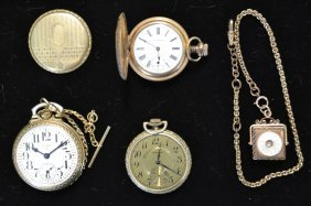 Collection Of Gold Filled Pocket Watches And Fabs