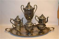 Victorian Silver Plate Tea Set