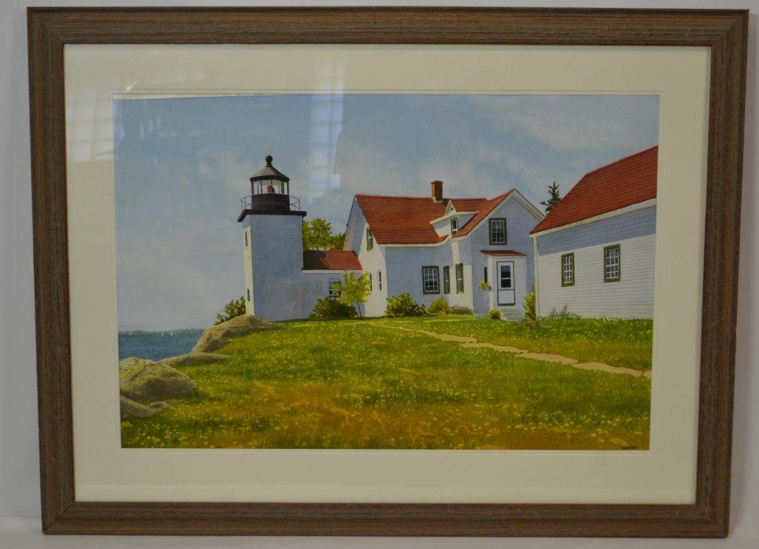 Thomas Newnam (American, Born 1946) Watercolor