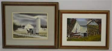 Thomas Newnam (American, Born 1946) Watercolors