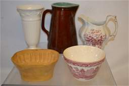 Grouping of English Pottery