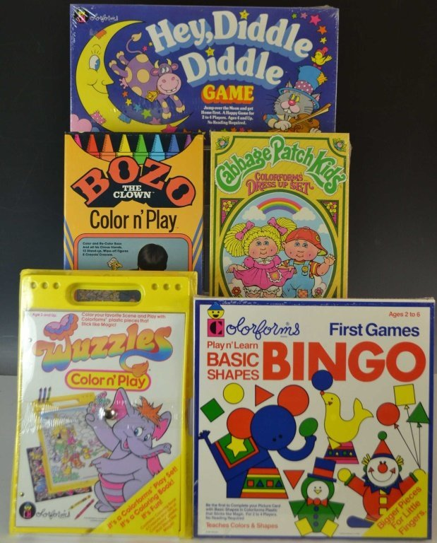 Five Colorform Activity Sets