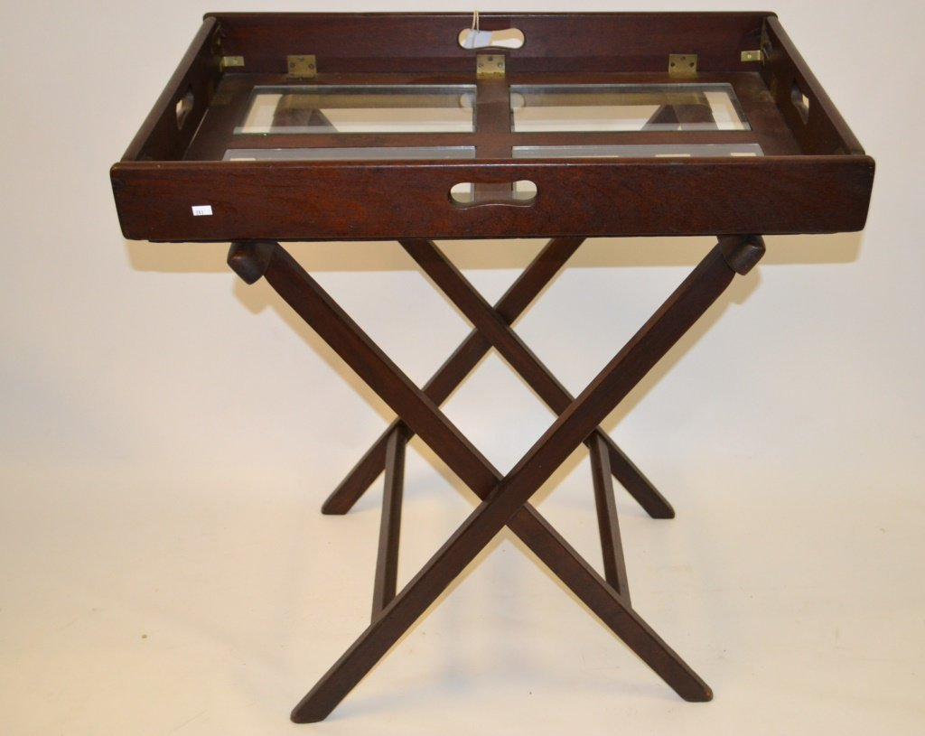 19th C /20th C  English Tray Table on Stand