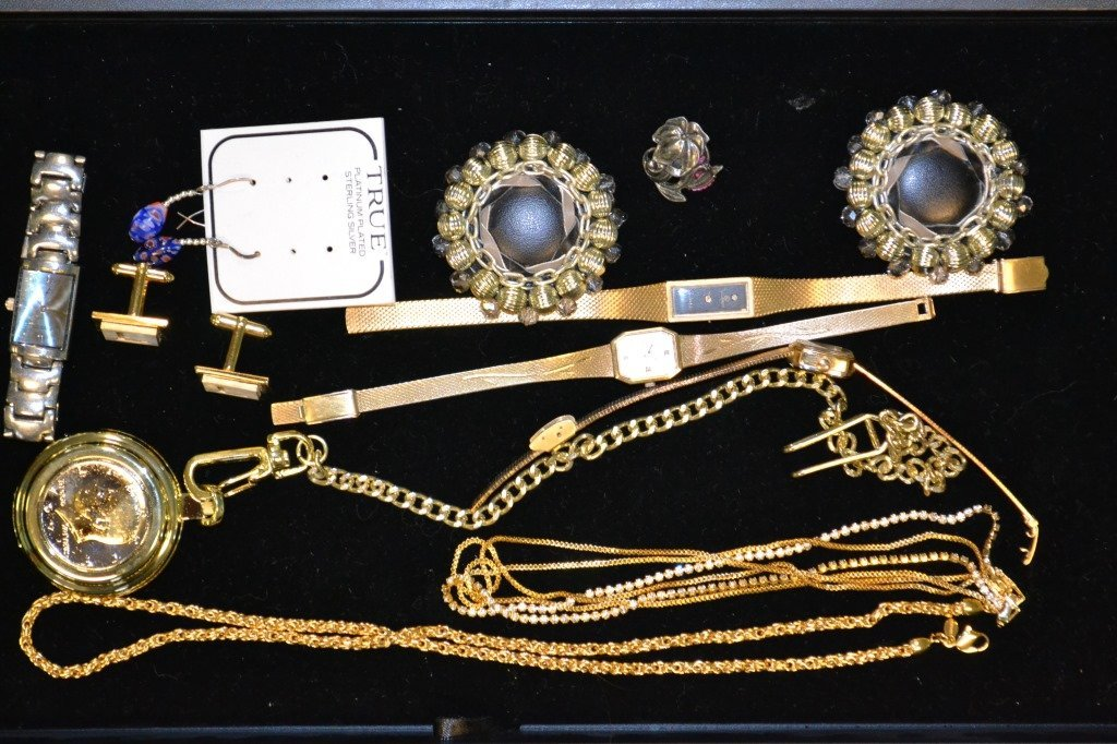 Grouping Of Watches & Costume Jewelry