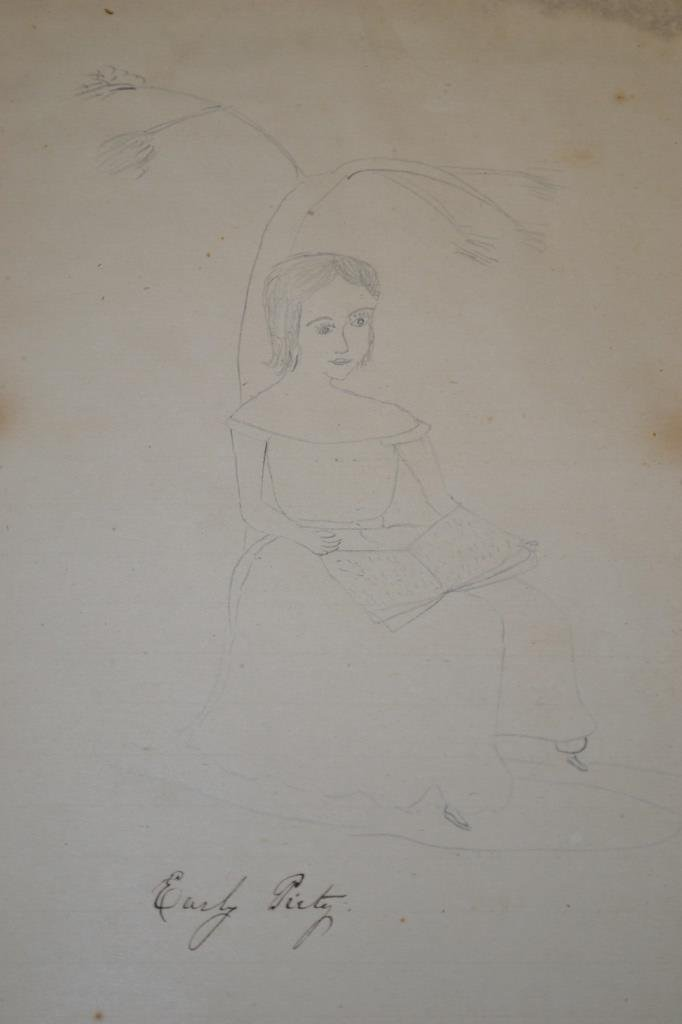 19th Century Eulogy and Folk Art of a Young Girl - 2