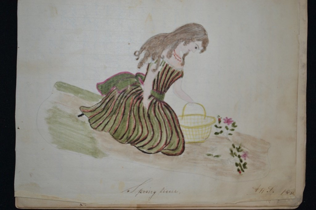 19th Century Eulogy and Folk Art of a Young Girl - 4