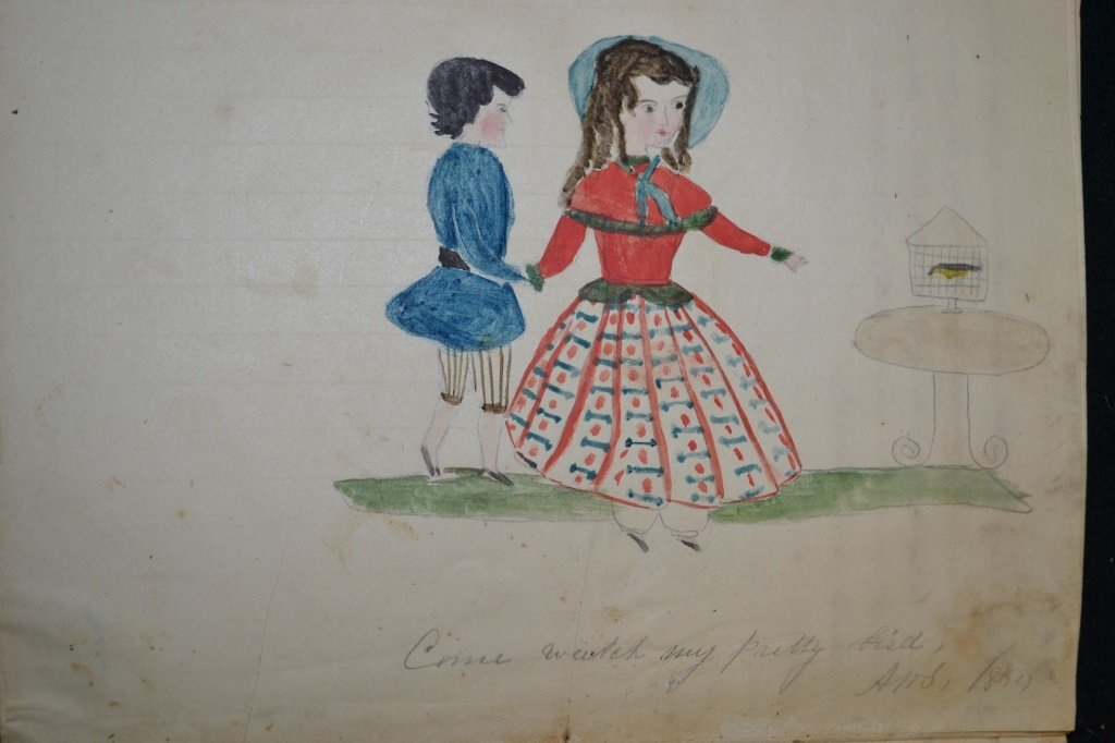 19th Century Eulogy and Folk Art of a Young Girl - 5