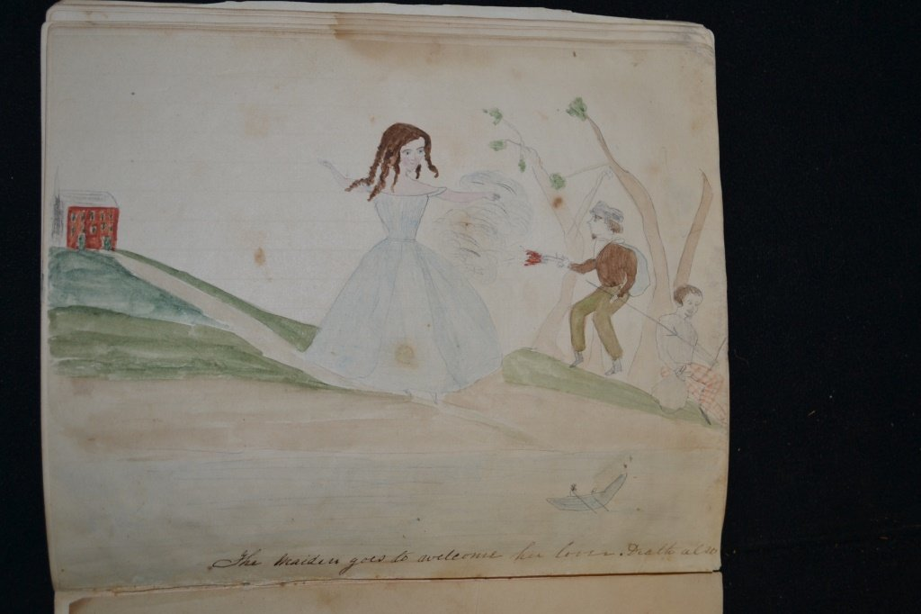 19th Century Eulogy and Folk Art of a Young Girl - 7