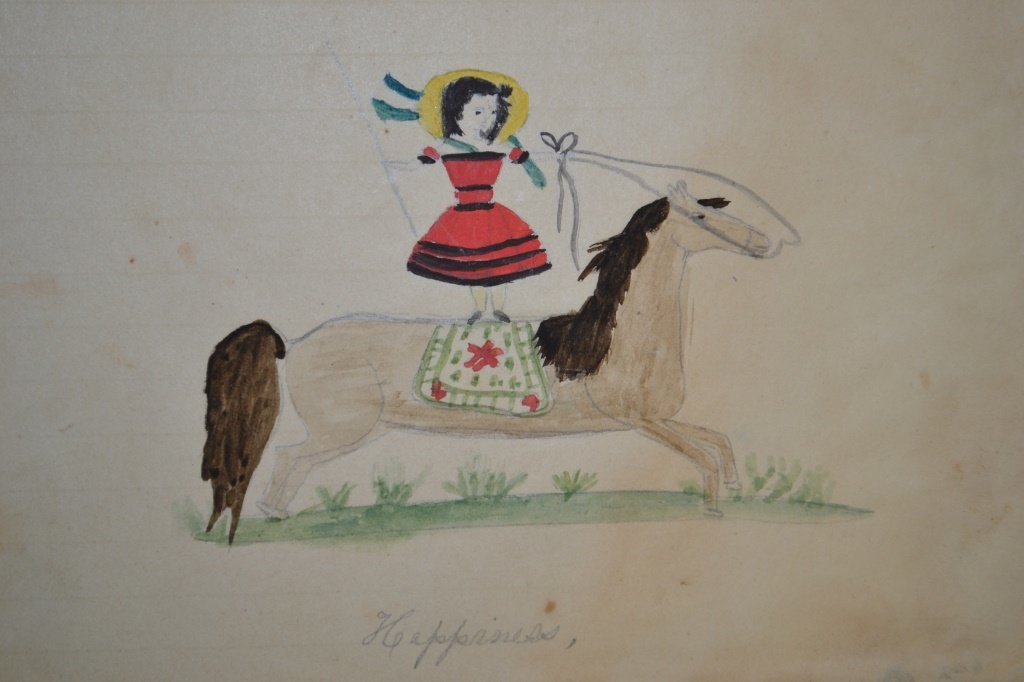 19th Century Eulogy and Folk Art of a Young Girl - 8