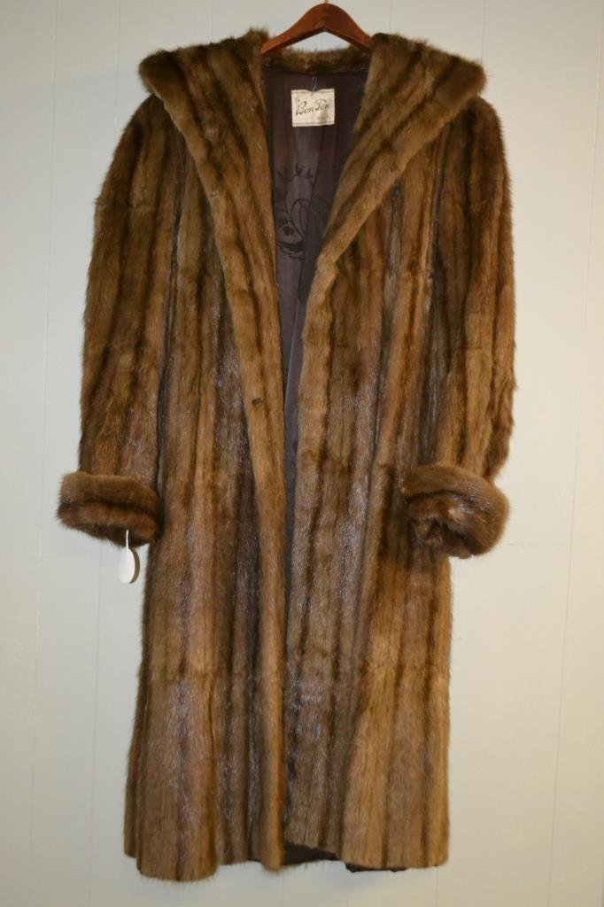 Bonton Full Length Fur Coat size Lg