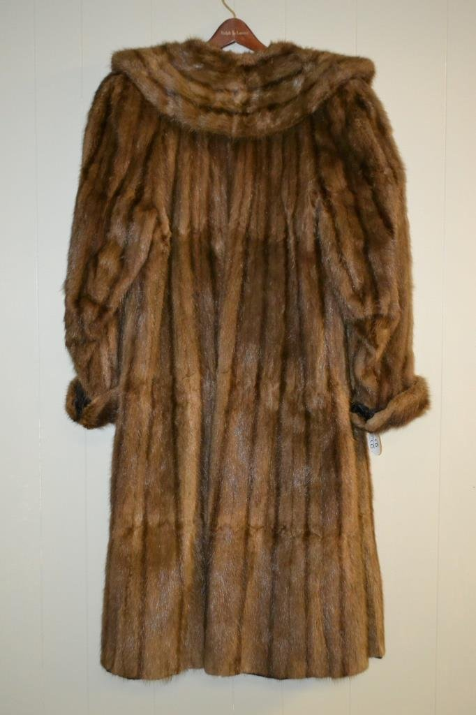 Bonton Full Length Fur Coat size Lg - 2