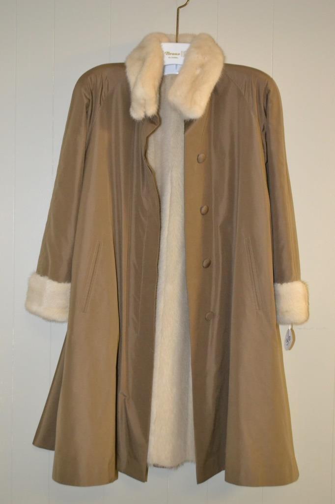 3/4 Length Mink Fur Coat size X Lg