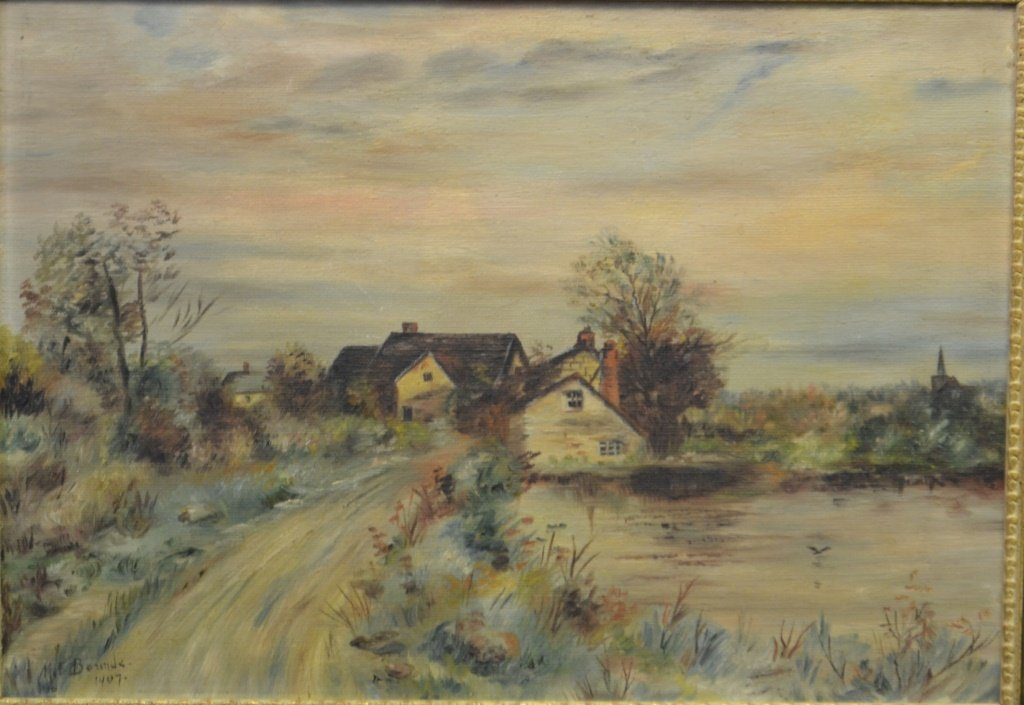 Early 20th C Oil on Canvas