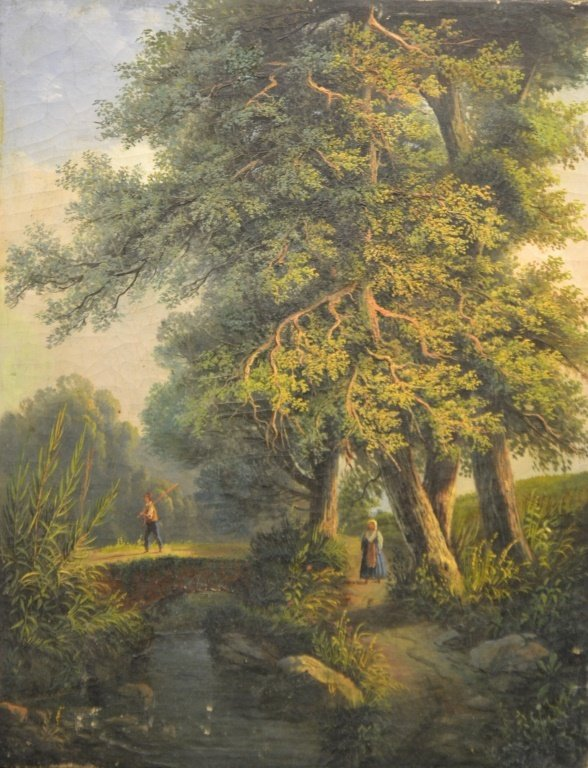19thC European Oil on Canvas