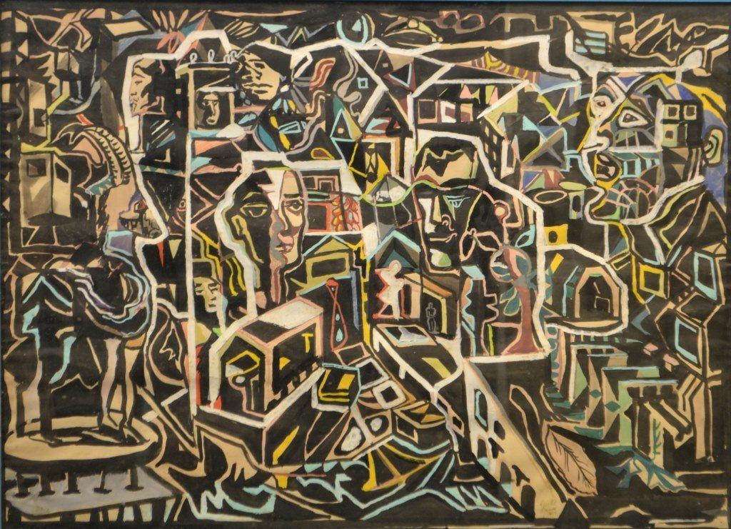 Modernist Pastel on Paper