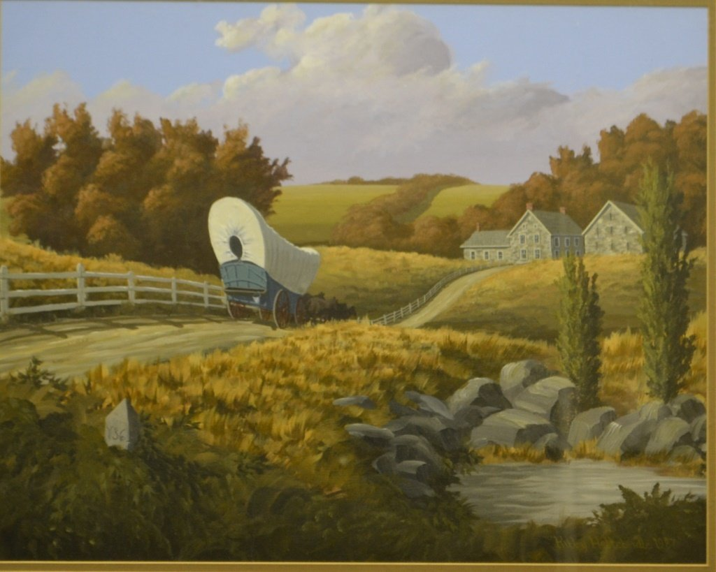 Kirby Heltebridle Oil On Board Hanover, Pa.