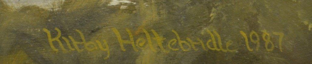 Kirby Heltebridle Oil On Board Hanover, Pa. - 2