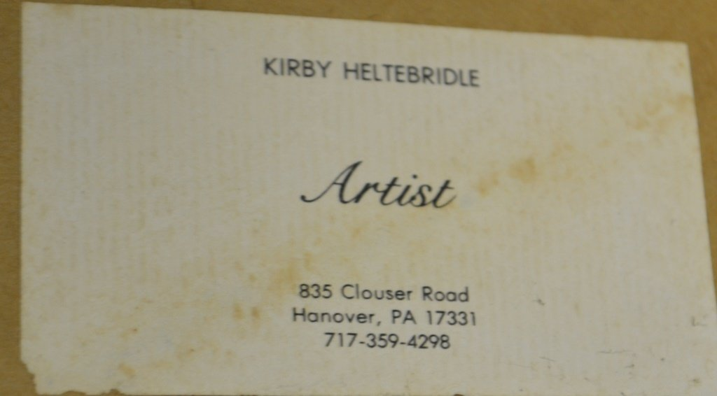 Kirby Heltebridle Oil On Board Hanover, Pa. - 3
